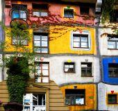 Hundertvaserio architektūra Vienoje