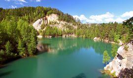 Ežeras Adršpachų draustinyje