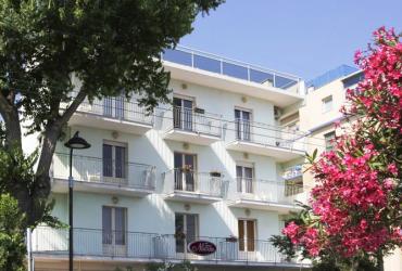 Viešbutis Riminio Rivjeroje (apgyvendinimo pavyzdys)
