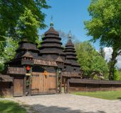 Lvovas, tradicinė medinė bažnytėlė