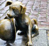 Bronzinė skulptūra Torunės gatvėje
