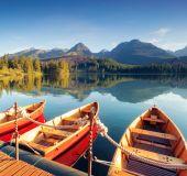 Kalnų ežeras Aukštuosiuose Tatruose