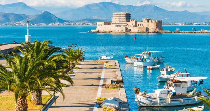 Graikijos Peloponeso pusiasalis, Atėnai ir poilsis prie Egėjo jūros - lėktuvu