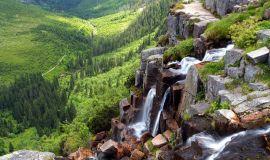 Krioklys Čekijos kalnuose